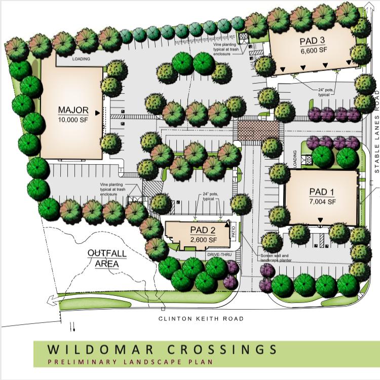 Wildomar Crossings Site Map